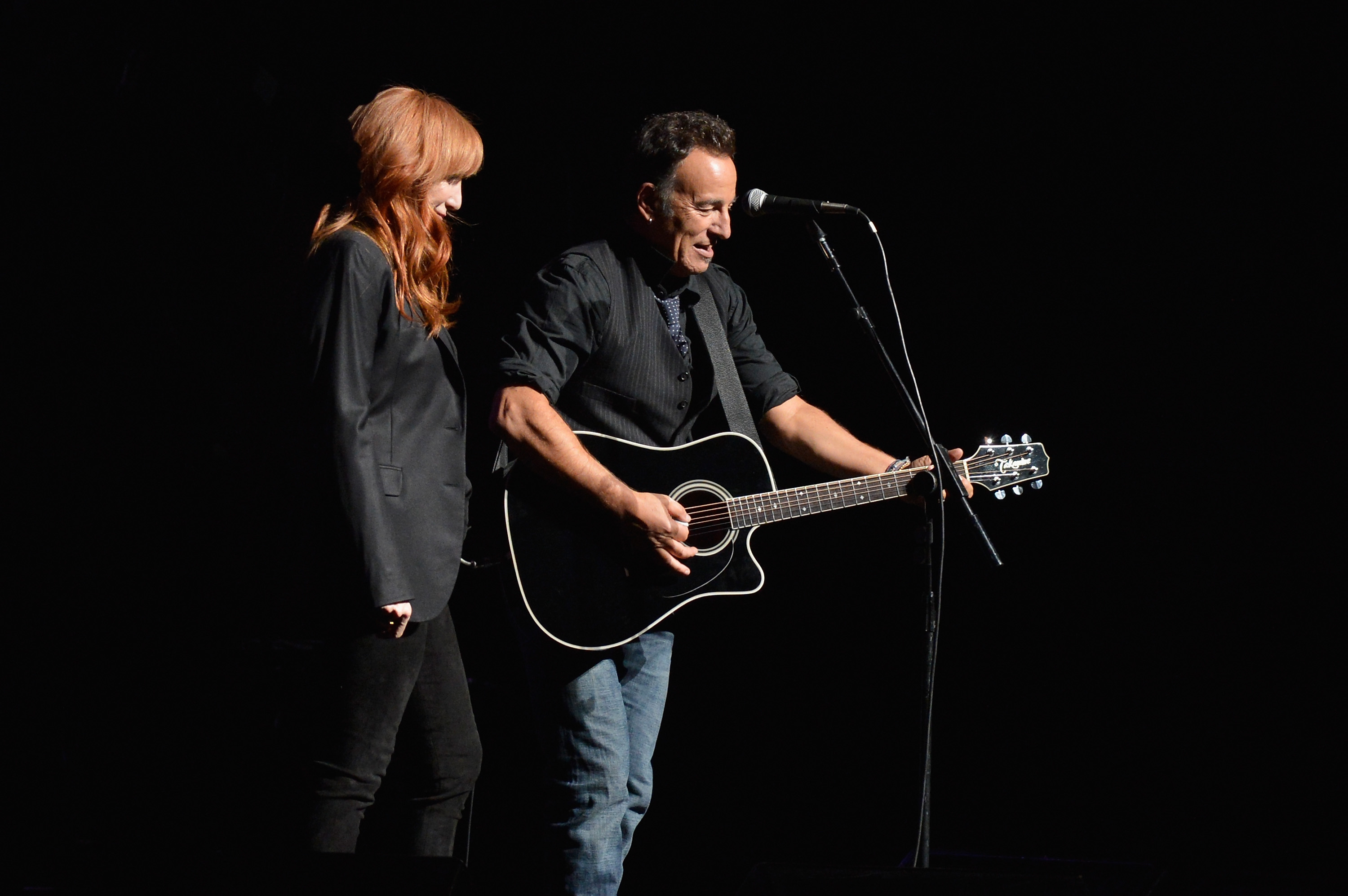 bruce and patti by mike coppola Roger Waters, Bruce Springsteen Stun At Stand Up For Heroes
