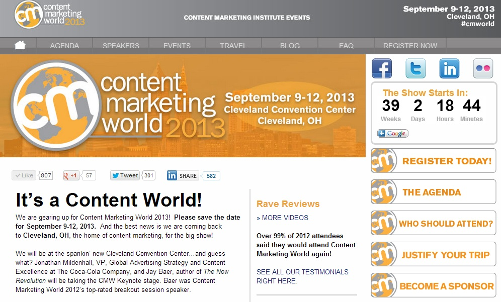 content marketing world - events