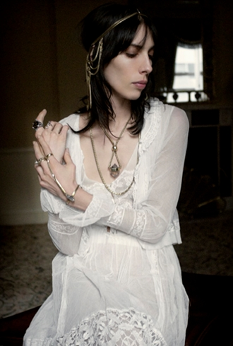 Jamie Bochert Goes Boho Luxe for ManiaMania's Autumn/Winter 2013 Campaign