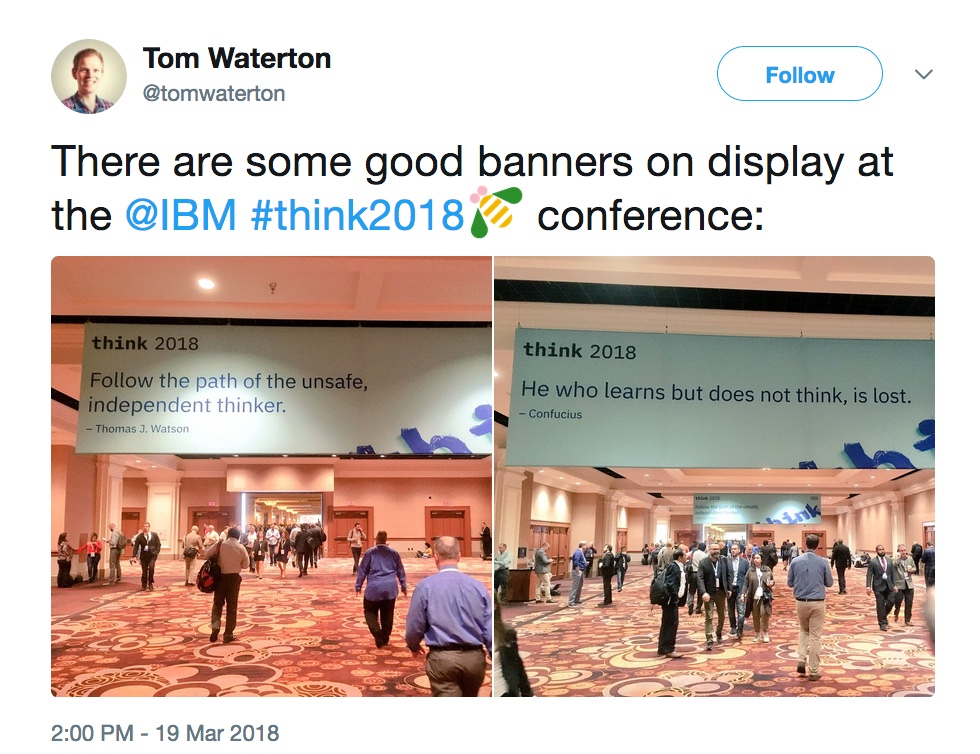 - ThinkMon4 20  20 20https   twitter - Think 2018: Our favorite highlights from Monday