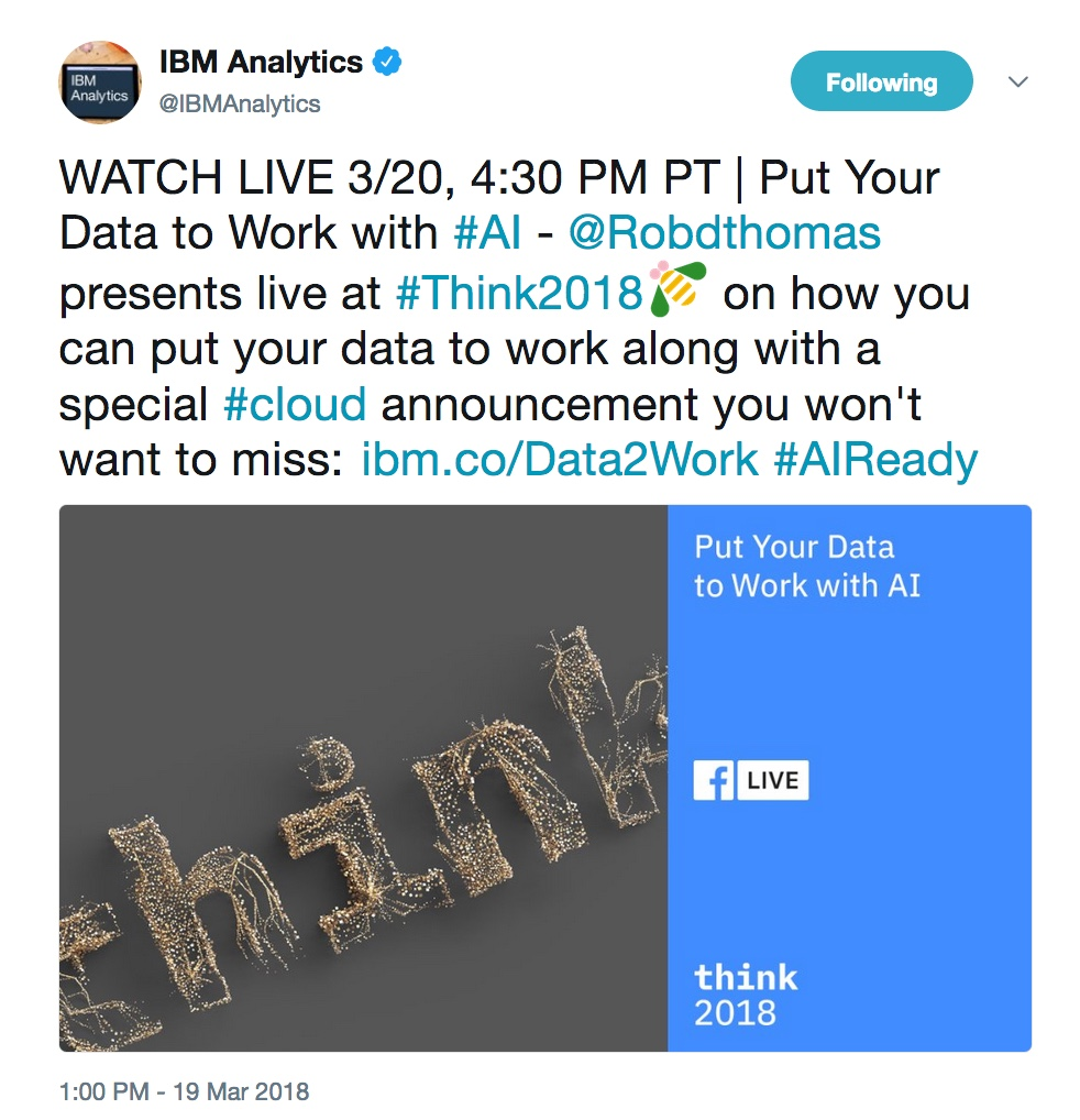 - ThinkMon3 20  20https   twitter - Think 2018: Our favorite highlights from Monday