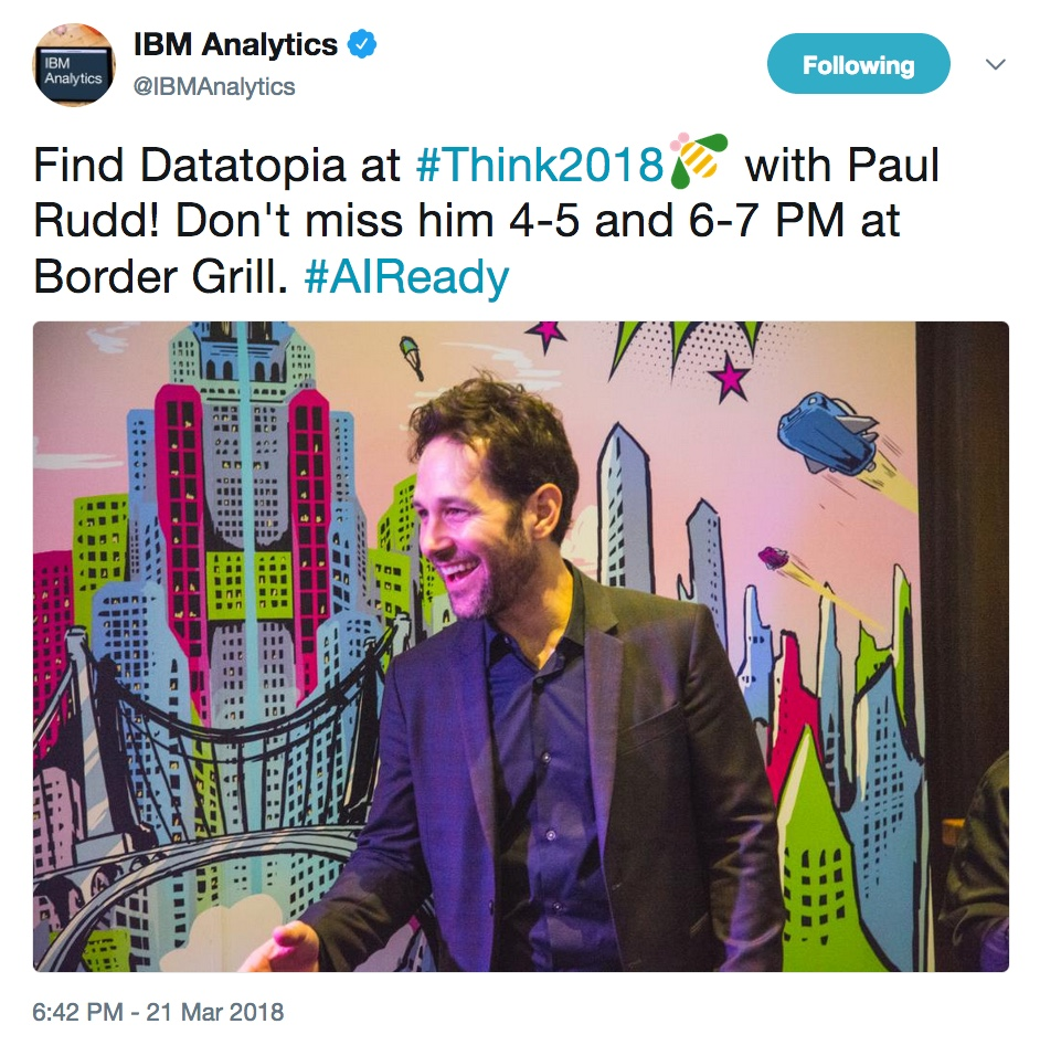 - thinkwed 205 20  20data 20rudd 20 - Think 2018: Our favorite highlights from Wednesday