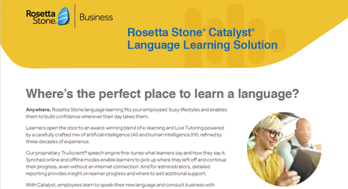 Rosetta Stone® Catalyst for Business