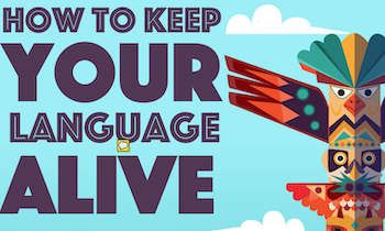 Endangered Language Preservation Infographic