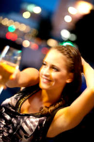 Young woman partying