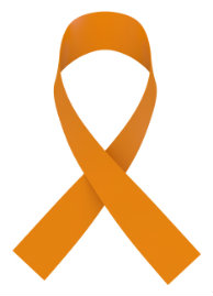Leukemia awareness ribbon