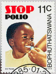 Polio eradication commemorative stamp