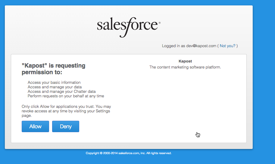 Integrate with Salesforce com to publish to SFDC – Kapost Help Center