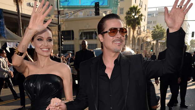 Brad Pitt Angeline Jolie (Photo by Kevin Winter/Getty Images)