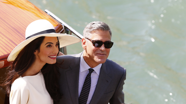 George Clooney Amal Alamuddin (Photo by Pierre Teyssot/Getty Images)