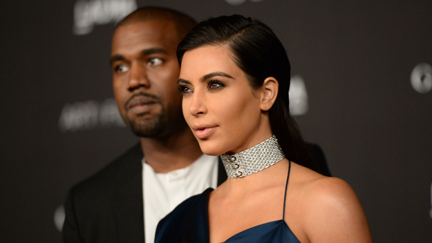 Kanye West Kim Kardashian (Photo by Jason Merritt/Getty Images)