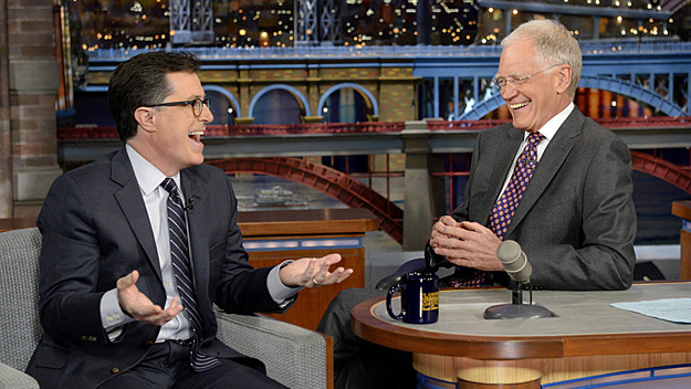 David Letterman Stephen Colbert (Photo by John Paul Filo/CBS)
