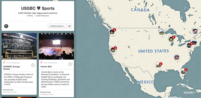 LEED In Pro Sports Which Teams Made USGBCs List Of Eco AllStars - Map of us pro sports teams