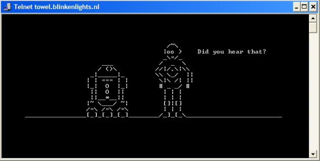 Figure 2. Star Wars Over Telnet
