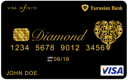 Visa Infinite Eurasian Diamond Card black card