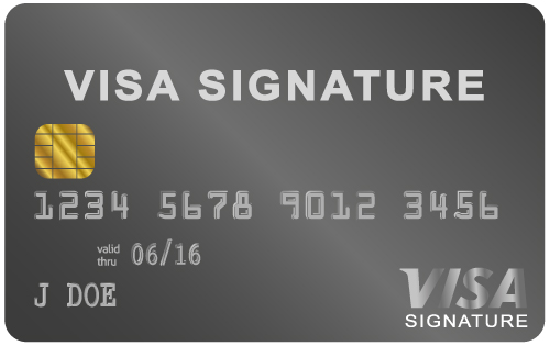 Visa Signature Card black card