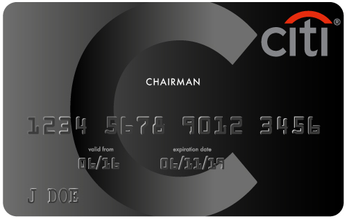 Black Chairman Card black card